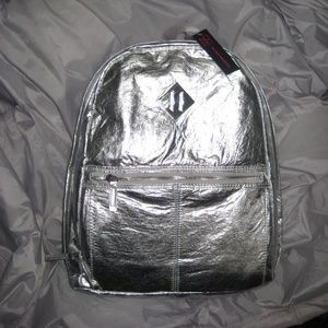Backpack Silver No Boundaries with Laptop Sleeve